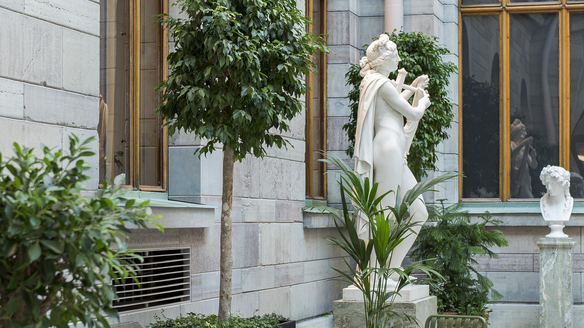 Skulpturgården inne på Nationalmuseum