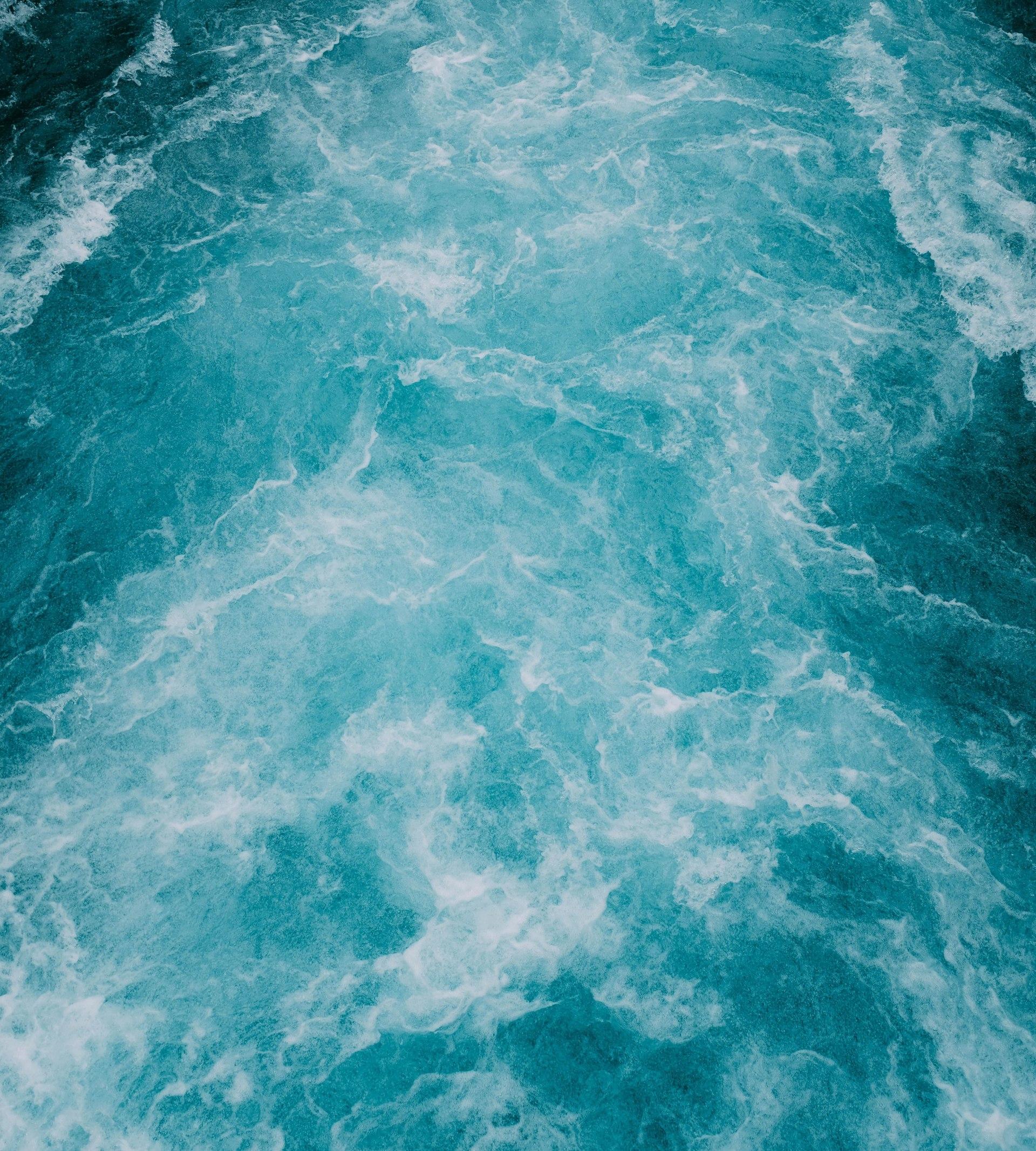 Vågor efter ett fartyg